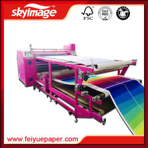 480mm*1.7m Oil Press Roll to Roll Heat Transfer Machine for Polyester Based Textiles pictures & photos