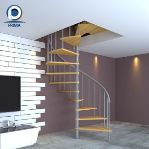 Wrought Iron Staircase Design Space Saving Spiral Stair pictures & photos