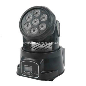 Popular 7X15W RGBWA UV 6 in 1 LED Wash Moving Head Lighting pictures & photos