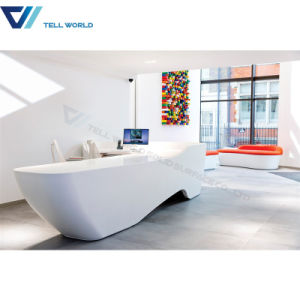 Modern White Curved Custom Made Reception Desks pictures & photos