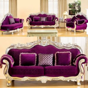 Home Sofa with Wood Cabinets for Living Room Furniture (929N) pictures & photos