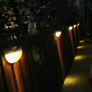 Solar Panel Lamp Sensor Mounted Fence Garden Pathway Wall Lamp pictures & photos