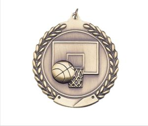 2′′ 3D Embossed Diecasting Plating Basketball Medals pictures & photos