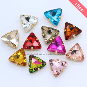 Triangle Sew on Rhinestone Fancy Jewelry Costume Jewelry Crystals (SW-Triangle 22mm) pictures & photos