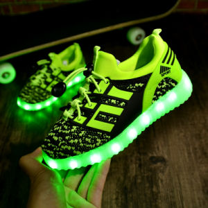 Girl Lighting Shoes 7 Light Color USB Charger Shoes LED Lights pictures & photos