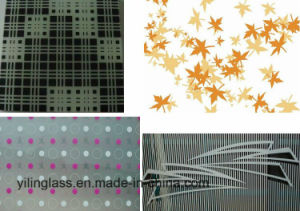 Art Decorative Glass with Color Printing, Shapes, Cross Bar pictures & photos