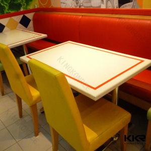 Unique Dubai Food Court Solid Surface Restaurant Table pictures & photos