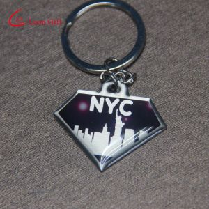 Cheap Custom Made Diamond Shaped Nyc Blink Printing Keychain pictures & photos