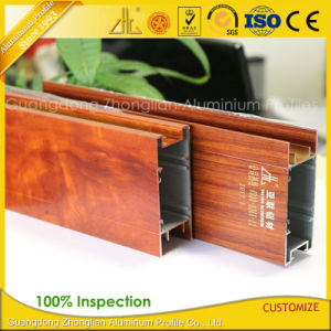 Wooden Grain Aluminium Extrusion Window and Door Frame Profile pictures & photos