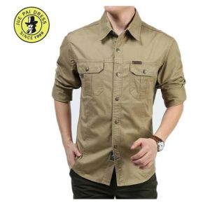 100% Cotton Security Uniform Shirt Long Sleeve Shirt for Men pictures & photos