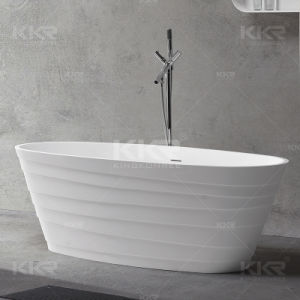 Sanitary Ware Solid Surface Freestanding Bathtub pictures & photos