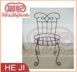 Wire Scroll Style Flower Pot Stand/Holder in Powder Coating Black pictures & photos