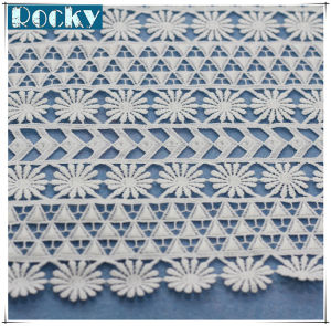 Milk Fiber Chemical Lace Embroidery Fabric for Dress pictures & photos