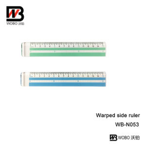Plastic Ruler with Warped Side for School Supplies