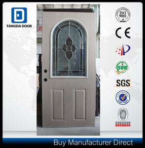 Classic PVC Coated Arc Top Glass Exterior Steel Door pictures & photos