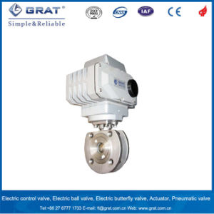 Short Body Wafer Connection Stainless Steel Electric Ball Valve pictures & photos
