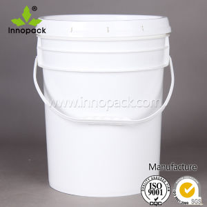 American Style 20 Liter Plastic Pail with Metal Handles and Cover with Sealing Strip pictures & photos