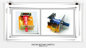 8 Positions Switch Each Position 45 Degree Rotary Switch Hr31 Series with Fire Rating 94UL V0 Switch