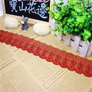 Stock Wholesale 9.5cm Width Embroidery Nylon Net Lace Polyester Embroidery Trimming Fancy Mesh Lace for Garments Accessory & Home Textiles & Curtains pictures & photos