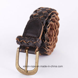 Special Customize Woven PU Leather Pin Buckle Belt for Gift pictures & photos