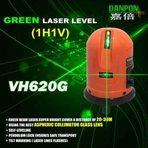 Danpon Pocketable Laser Level Cross Green Beams Laser Level Vh620g pictures & photos
