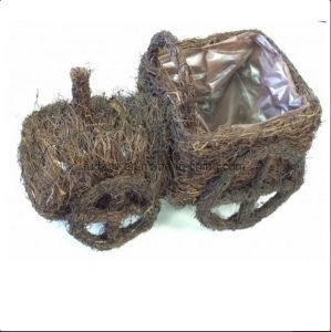 Rattan Tractor Shaped Garden Planter pictures & photos
