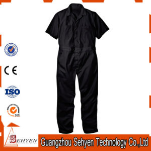 Factory OEM 100% Cotton Blue Anti-Acid Coverall with Short Sleeve pictures & photos
