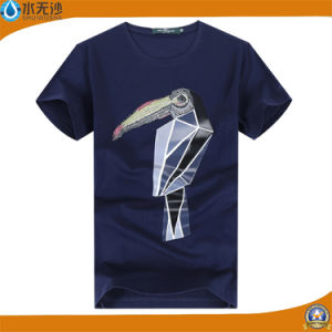 Wholesale Men Round Neck Cotton T-Shirts Printed T-Shirts pictures & photos
