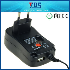 Ce EU Wall Mounted AC DC 30W 2A Universal Power Adapter pictures & photos