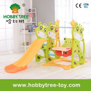 2017 Deer Style Indoor Plastic Baby Slide for Family (HBS17006C)