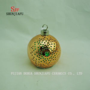 Spherical Electroplated Ceramic Candle Stand, Porcelain Candle Candlestick/B pictures & photos