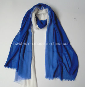 Elegant Hand-Drawing Degrading Style Thin Viscose Stole / Lady Scarf (HMV13) pictures & photos