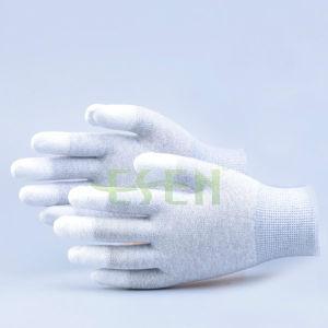 Esen Safety Carbon Fiber PU Coated Gloves, Carbon Fiber Gloves Made in China En420 En388 pictures & photos