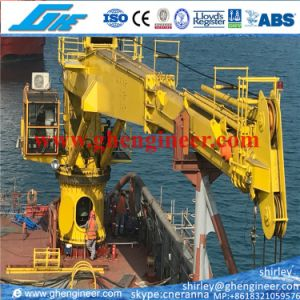 3t@40m Telescopic Boom Hydraulic Marine Offshore Crane Made in China pictures & photos