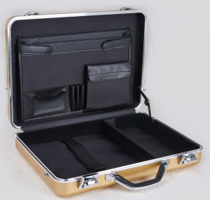 Wholesale Aluminum Genuine Muntifunctional Several Compartments Briefcase pictures & photos