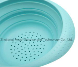 Eco-Friendly Kitchen Accessories Silicone Filter Basket to Wash Fruit and Vegetable Sk36 (L) pictures & photos