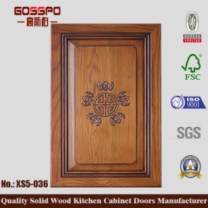 20mm Carved Wooden Kitchen Cabinet Door (GSP5-036) pictures & photos