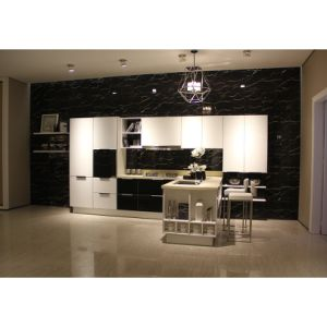 Modern Design Black and White Wood Lacquer Modular Kitchen Cupboards pictures & photos