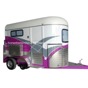 High Quality Two Horse Trailers/Horse Floats Angel Load From Manufacturer pictures & photos