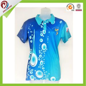 Women High Qulaity Custom Sublimated Short Sleeves Golf Shirt Polyester pictures & photos