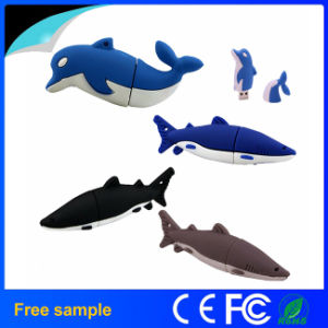 Cheap OEM Shark USB Disk PVC USB Flash Drive pictures & photos