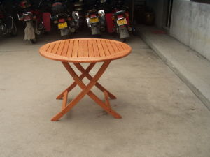 Eco Friendly Wood Patio Outdoor Round Foldable Folding Table pictures & photos