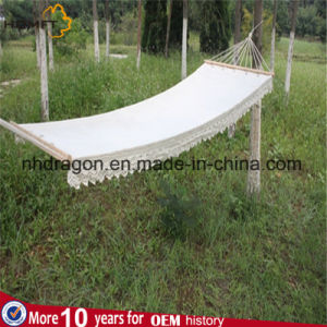 White Cotton Single Good Rest Hammock pictures & photos