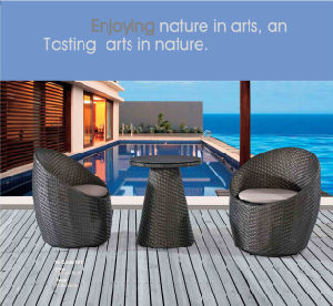 Garden Outdoor Furniture Rattan Chair and Tea Rattan Table pictures & photos