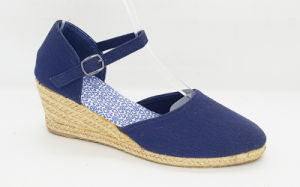 Women′s Fashion Canvas Espadrille Wedge Sandals