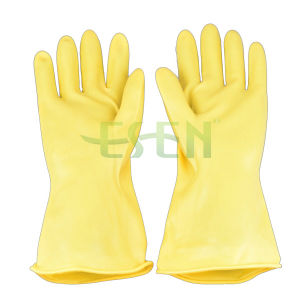 Latex Household Glove/ Popular Rubber Hand Gloves Flock Lined/ All Colors Kitchen Rubber Gloves pictures & photos
