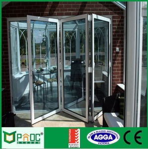 Chinese Aluminum Bi Folding Door with Tempered Glass pictures & photos