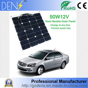 12V 50W Sunpower Flexible Monocrystalline Solar Power Panel pictures & photos
