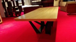 Factory Supply Cheap Ash Wood Veneer Dining Table Set (DTS-002) pictures & photos