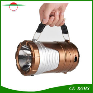 New Design Rechargeable Camping Lantern 6LED Solar Torch Light Outdoor Foldable Emergency Lighting for Hiking Fishing pictures & photos
